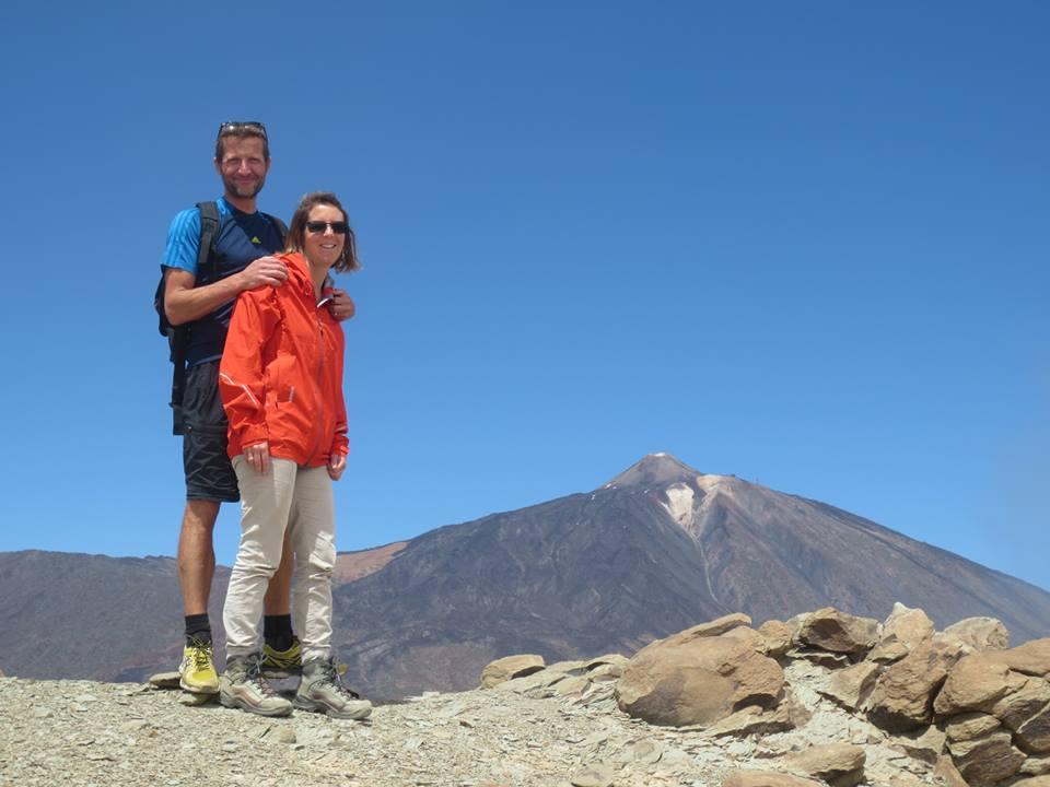 Steffi und Lothar Teide-Gipfel