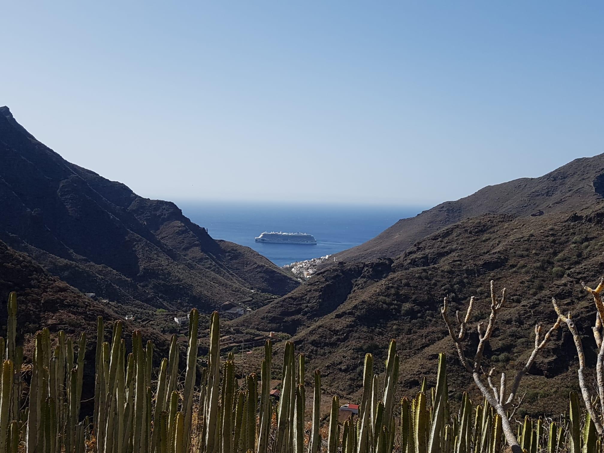 Blick zurück Wanderung Playa Antequera