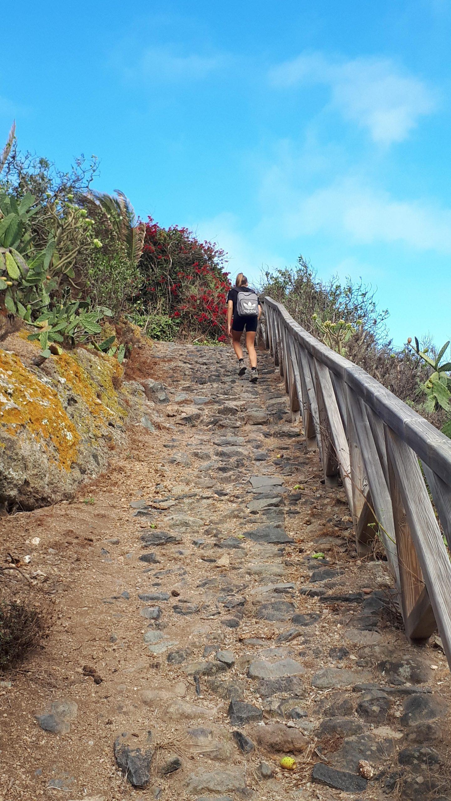 Aufstieg vom Barranco de Ruíz