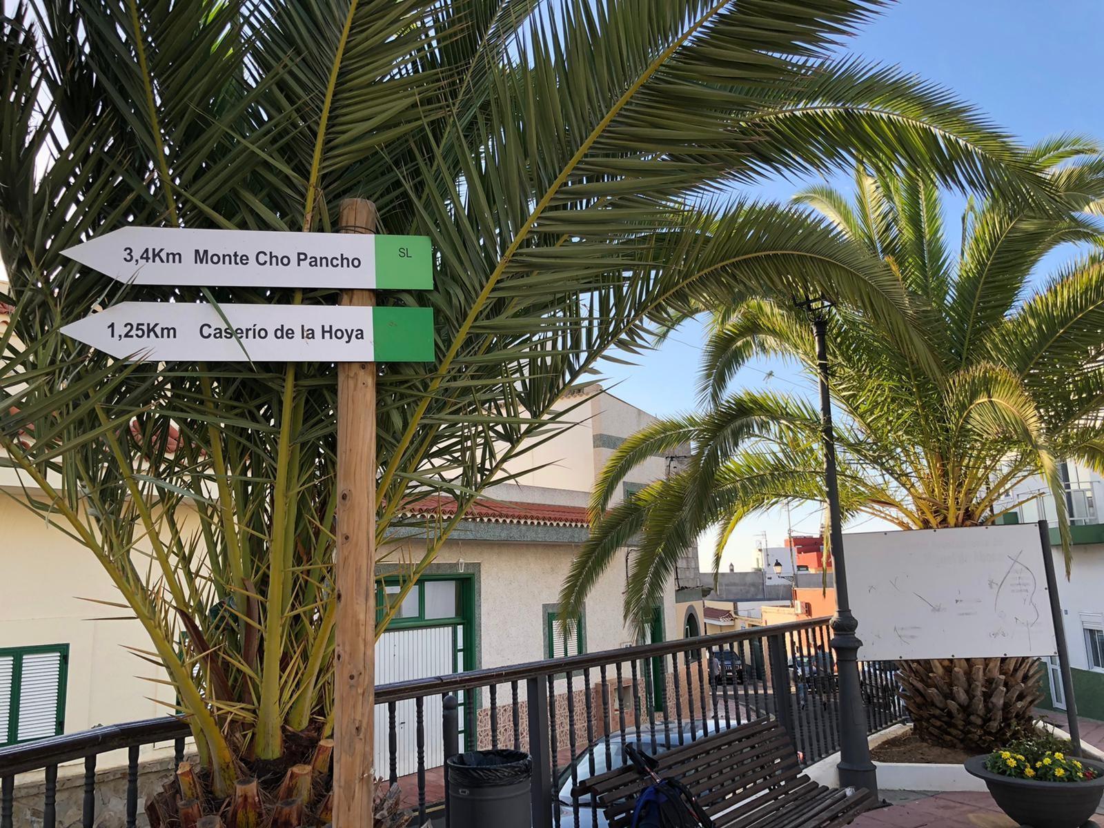 Start der Wanderung el Roque-Cho Pancho