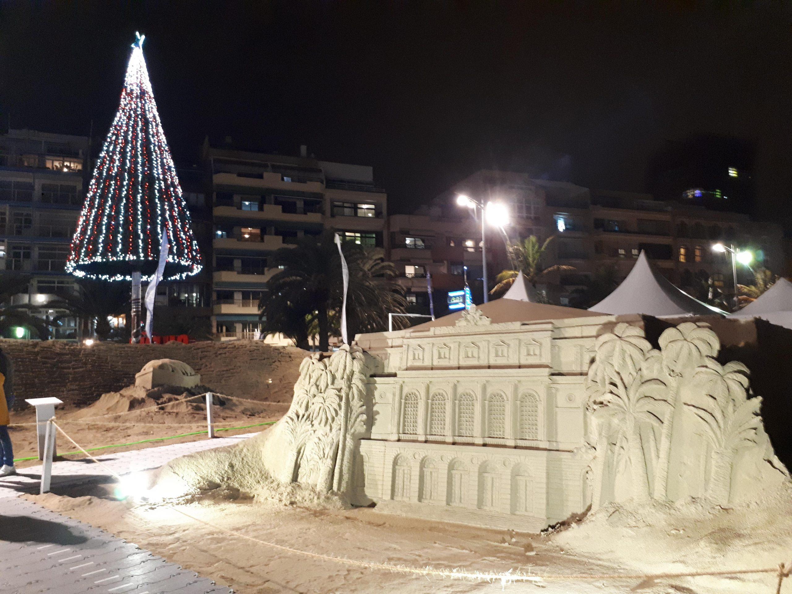 Sandkrippe Belén de Navidad